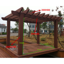 200*200mm Cabana Post Anti-Crack Freestanding WPC Pergola Rpl Beams